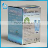 Color cardboard little box anti-fogery ink printing paper box for blood glucose test strips with Reflective Material