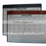 2013 leather desk pad calendar