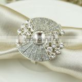new design high quality bulk wholesale sliver wedding napkin rings for the towel table decoration