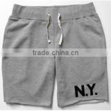 mens custom 100% cotton sweat shorts