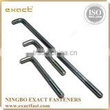 FACTORY SUPPLY HIGH QUALITY ZINC/HDG ASSEMBLED WITH WASHER AND NUT ANCHOR BOLT/ L SHAPE BOLT