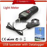 digital lux meter for led photoelectric beam sensor detector 1-200,000 Lux with USB TL-600