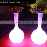 widely use led light flower pot for livinhaibaoom/balcony led flowers pot for wedding decoration