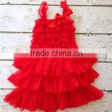 baby girls red dress christmas lace girls dresses