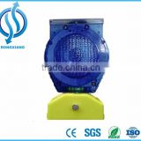 Blue color led flashing road safety solar traffic cone warning light