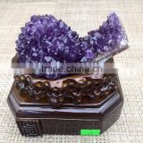 Beautiful Natural Purple Amethyst Cluster Crystal Ornaments Home Decoration