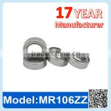 MR106 ZZ RS Miniature Ball Bearing Deep Groove Ball Bearing