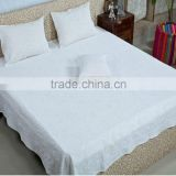 HANDMADE ETHNIC APPLIQUE WORK INDIAN BED SHEET BEDSPREAD TAPESTRY THROW