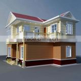 foldable Strong and beautiful prefabricated light steel villa,green house,restaurant seating booth design