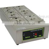 12kg Commercial Use 110v 220v Electric Digital Chocolate Tempering Machine with 6 Melting Pot