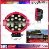 Popular offroad 51W led work light 7 inch led lamp for jeep cherokee xj lights