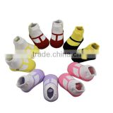 GSB-07 2015 Hot sell quality cotton baby socks like shoe with silicon anti-slip