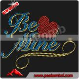 Wholesale Rhinestones Iron on Transfers Be Love Mine Heat Transfer Accessories for Sewing