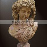 stone carved marble bust