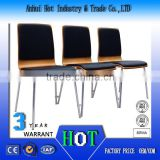 Black High Quality Leather Chair Waterproof Comfortable Auditorium Chair Factory Direct School Dining Chair