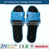 blue silicon muscle pain relief foot massage slipper for physiotherapy tens machines
