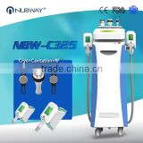2 Cryo Handles 2 RF Heads 1 Cavitation Body Shaping Head Fat Freezing Cryolipolysis Slimming Machine For Weight Loss Fat Freezing
