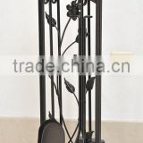 5 pcs hand forged Fireplace tool sets
