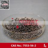 China Best price high purity Iodine crystals black granule and balls ,7553-56-2