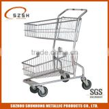 Double-basket shopping carts