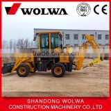 hydraulic backhoe loader with hydraulic pipes breaker