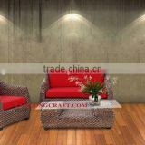 Furniture living room sofa set, include cushion and glass for table