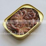 canned baby octopus
