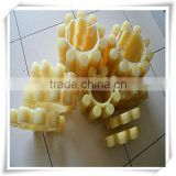 light yellow color PU plum pad