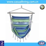cotton canvas hanging chair hammock single seat swing chair with fringe specializing china factory