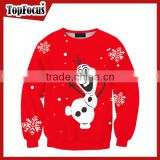 Professional Manufacturer Wholesale custom sublimation print christmas adult jolly jumper