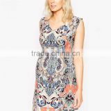 Fashion Plus Size Clothes Floral Printing Sleeveless Maternity Clothes For Pregnant Women Maternity clothes dress