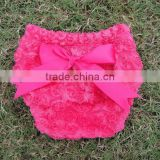 2014 Wholesale Sweet Baby Toddlers Rose Pattern Diaper Cover/PettiBloomers Girls Underwear Cover Summer Shower Rose Bloomer