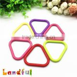 58mm BPA Free Soft Toy Accessories Baby Triangle Plastic Teething Ring