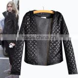 2014 new winter coat warm jacket diamond lattice cotton quilted cotton big yards Free shipping