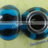 P57 beautiful glass bead wholesale handmade murano lampwork glass european beads fit for charm bracelets