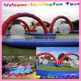 rolling zorb ball for air track games