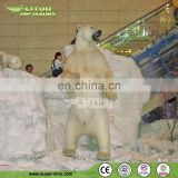 Shopping Hall Decoration LifeLike Animal Animatronic Polar Bear