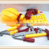 boys plastic toy tool set,hat toy helmet