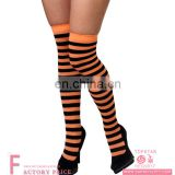 Black and Orange thigh high socks women's long stocking for halloween hen party