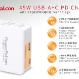 PowerFalcon 45 PD dual USB port (USBC USBA) charger
