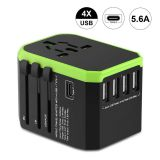 Newest Type C 3.0A fast USB chargers 8A Fuse Portable World Travel Adapter 5V Adaptor Multi Plug Outlet