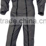 Men's Work Boiler Suit Coveralls with double long zipper and elastic waist tightened Mechanics overalls workwear