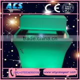 ACS Top quality factory price RGB led light tea/ coffee table and chairs for event