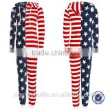 Ladies Girl Onesie USA American Flag Star All One Micro Fleece Adult Jumpsuit Pyjamas                                                                         Quality Choice