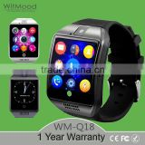 Witmood 2016 Mens Bluetooth Smart Watch Reloj Inteligente Q18 SIM TF NFC 1.3M Camera Video for Samsung Android/Apple IOS Phones                                                                         Quality Choice