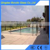 Hot sale 12mm tempered pool fence glass panels                                                                         Quality Choice