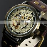 2015 golden automatic mechanical watch, self winding mechanical watch with fashion design WM412