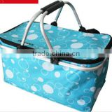 2016 Folding insulation package ice pack picnic basket shopping basket breast lunch box cooler bag