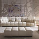 2015 Modern Design sofa sala set Top Grain Leather furniture living room MS1102                                                                         Quality Choice