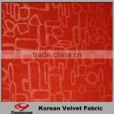 Factory Sale Embossed Korean Velvet Fast Dry Polyester Lycra Print Fabric Wholesale
